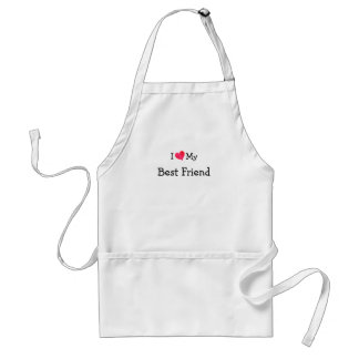 I Love My Best Friend Standard Apron