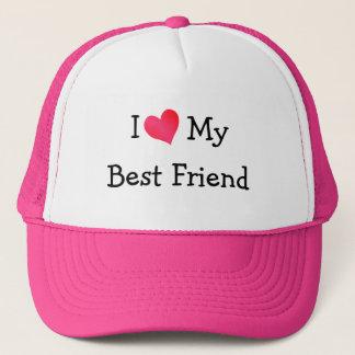 I Love My Best Friend Trucker Hat