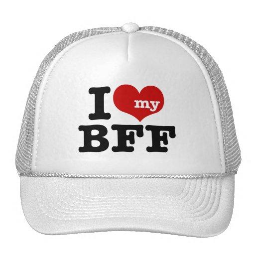 I Love My BFF Hats