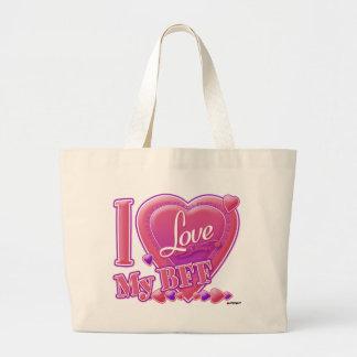 I Love My BFF pink/purple - hearts Tote Bag