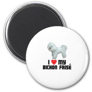 I Love My Bichon Frise 6 Cm Round Magnet