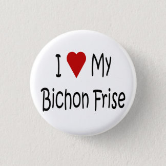 I Love My Bichon Frise Dog Lover Gifts 3 Cm Round Badge