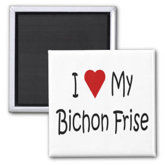 I Love My Bichon Frise Dog Lover Gifts Magnet