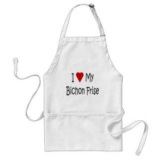 I Love My Bichon Frise Dog Lover Gifts Standard Apron