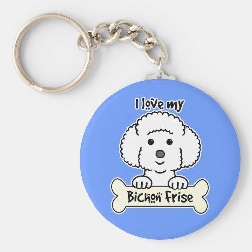 I Love My Bichon Frise Key Chains
