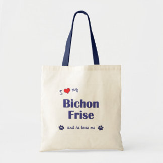 I Love My Bichon Frise (Male Dog) Bag