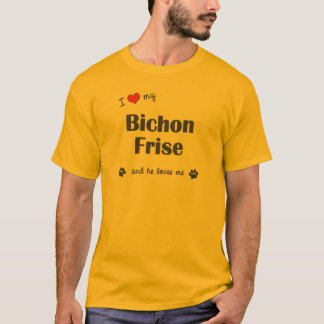 I Love My Bichon Frise (Male Dog) T-Shirt