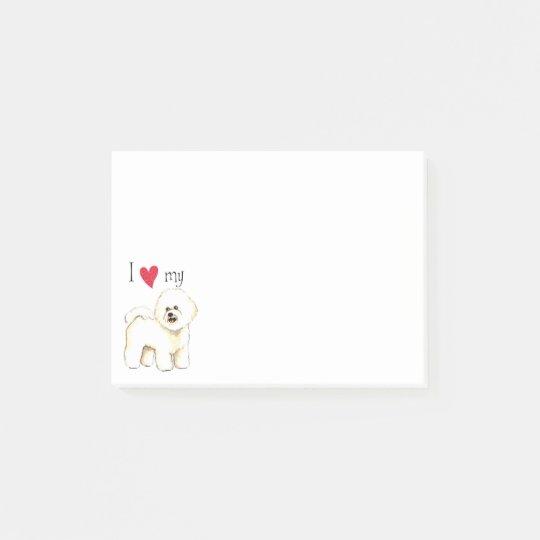 I Love my Bichon Frise Post-it Notes