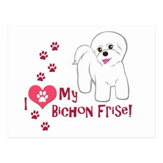 I Love My Bichon Frise! Postcard