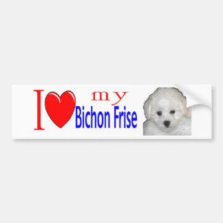 I love my bichon frise puppy bumper sticker