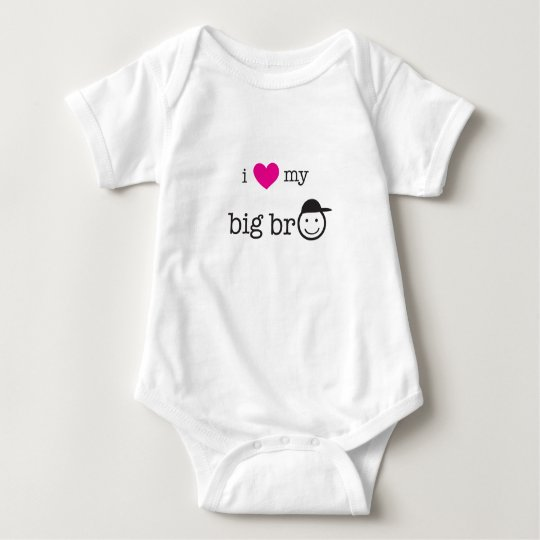 I Love My Big Bro' Baby Bodysuit