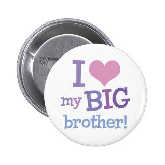 I Love My Big Brother 6 Cm Round Badge