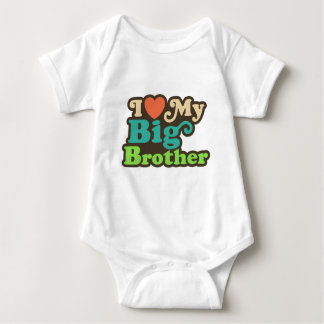 I Love My Big Brother Baby Bodysuit