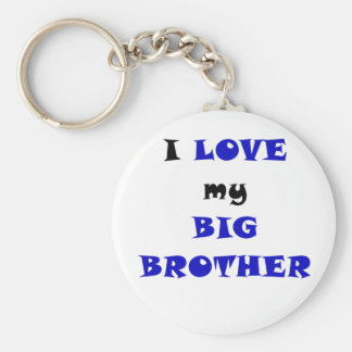 I Love my Big Brother Basic Round Button Key Ring