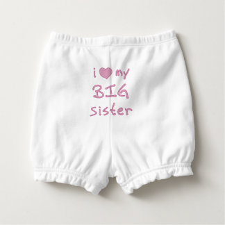 I Love My Big Sister Heart Nappy Cover
