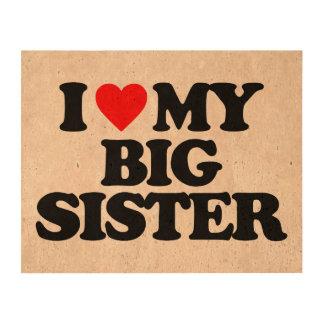 I LOVE MY BIG SISTER CORK FABRIC