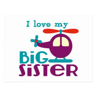 I love my Big Sister Postcards