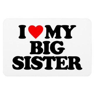 I LOVE MY BIG SISTER VINYL MAGNET