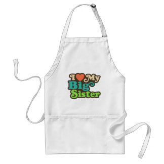 I Love My Big Sister Standard Apron