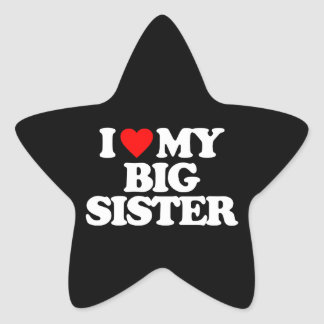 I LOVE MY BIG SISTER STAR STICKER