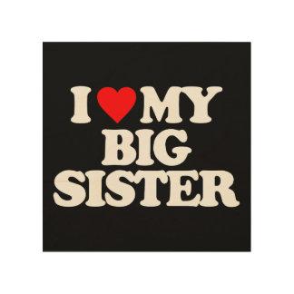 I LOVE MY BIG SISTER WOOD CANVAS
