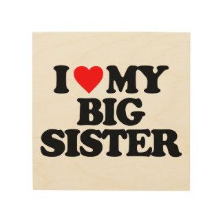 I LOVE MY BIG SISTER WOOD PRINT