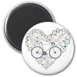 I Love My Bike 6 Cm Round Magnet