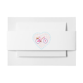 I Love My Bike Belly Bands Invitation Belly Band