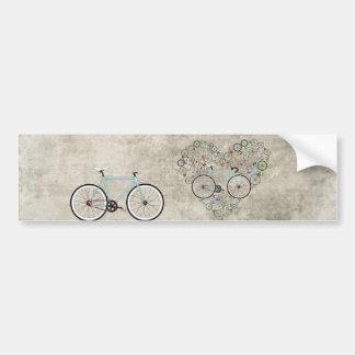 I Love My Bike Car Bumper Sticker