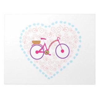 I Love My Bike Notepad