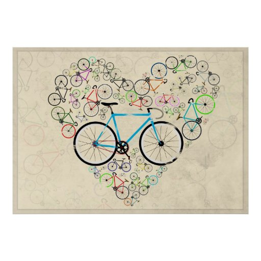 I Love My Bike Print