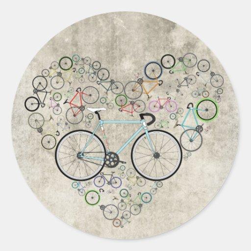 I Love My Bike Round Stickers