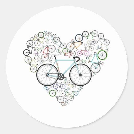 I Love My Bike Stickers