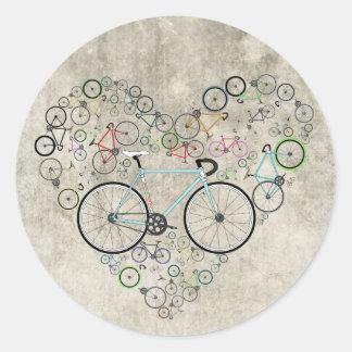 I Love My Bike Classic Round Sticker