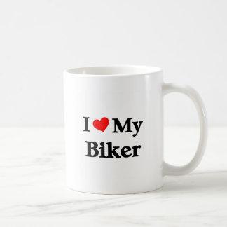 i love my Biker Basic White Mug