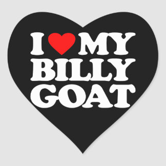 I LOVE MY BILLY GOAT HEART STICKER