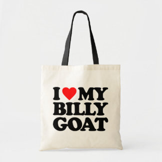 I LOVE MY BILLY GOAT TOTE BAG