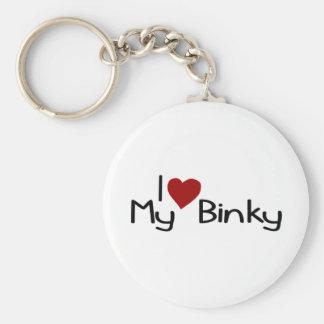 I Love My Binky Basic Round Button Key Ring