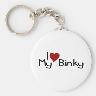 I Love My Binky Key Ring
