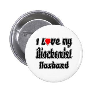I Love My Biochemist Husband 6 Cm Round Badge