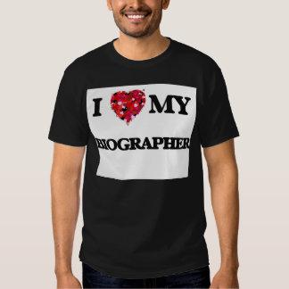 I love my Biographer T Shirts