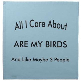 I Love My Birds Cloth Napkin
