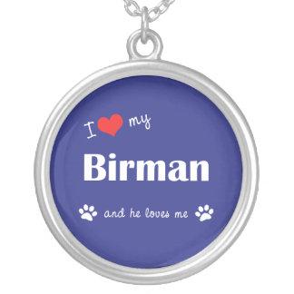 I Love My Birman (Male Cat) Round Pendant Necklace