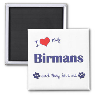 I Love My Birmans (Multiple Cats) Magnet