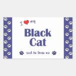 I Love My Black Cat (Male Cat) Sticker