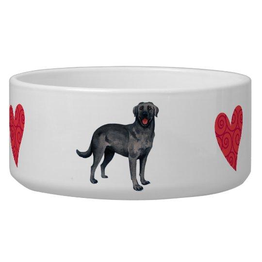 I Love my Black Lab Pet Food Bowls