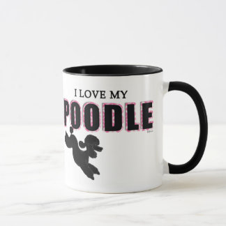 I Love My Black Poodle Mug