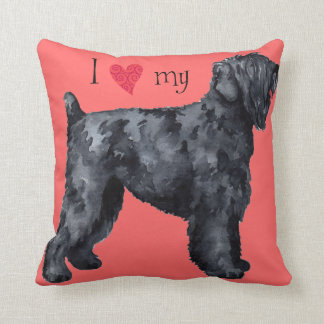 I Love my Black Russian Terrier Cushion
