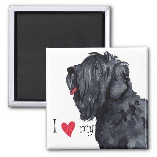 I Love my Black Russian Terrier Fridge Magnet