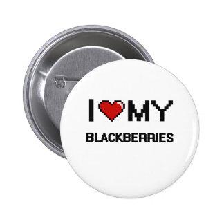I Love My Blackberries Digital design 6 Cm Round Badge